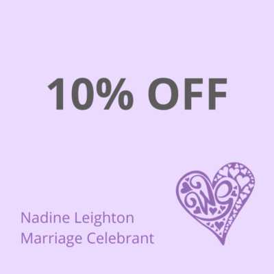 10% discount off your ceremony